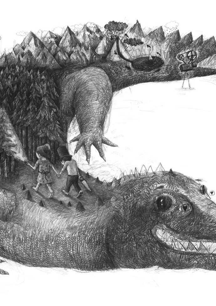Stefan Zsaitsits Drawings Zeichnungen Crocodilus