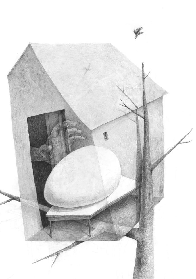 Stefan Zsaitsits Drawing Zeichnung Haus House