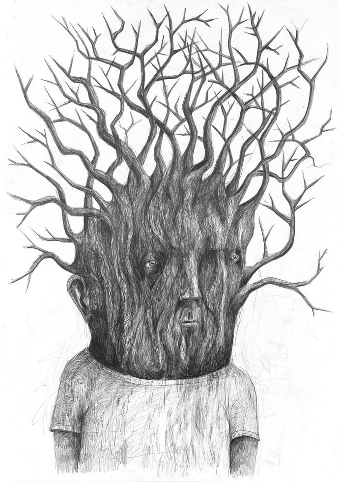 Stefan Zsaitsits Drawing Zeichnung Baum Tree