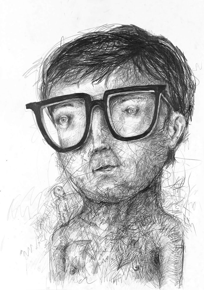 Stefan Zsaitsits Drawings Zeichnungen Brillen Glasses